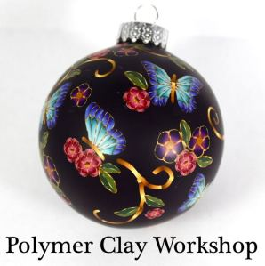 polymer clay butterfly ornament