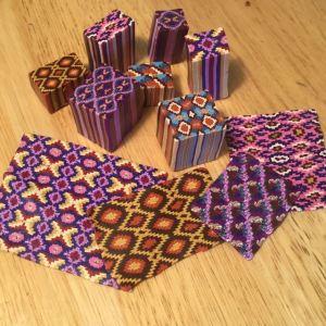 Polymer clay kilim canes