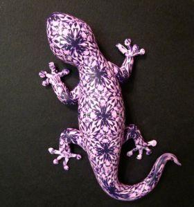 polymer clay lizard