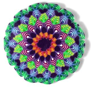 Polymer clay quilled mandala
