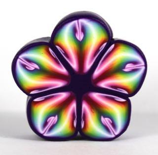 Polymer Clay Rainbow light flower