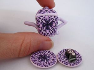polymer clay tea pot