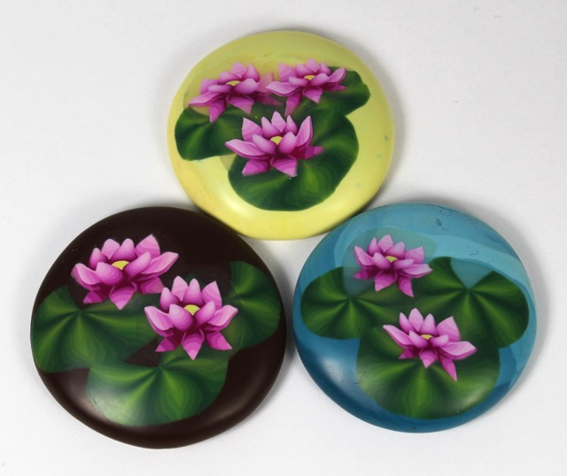 Polymer clay water lily lotus millefiori