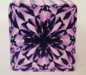 purple square gemstone cane