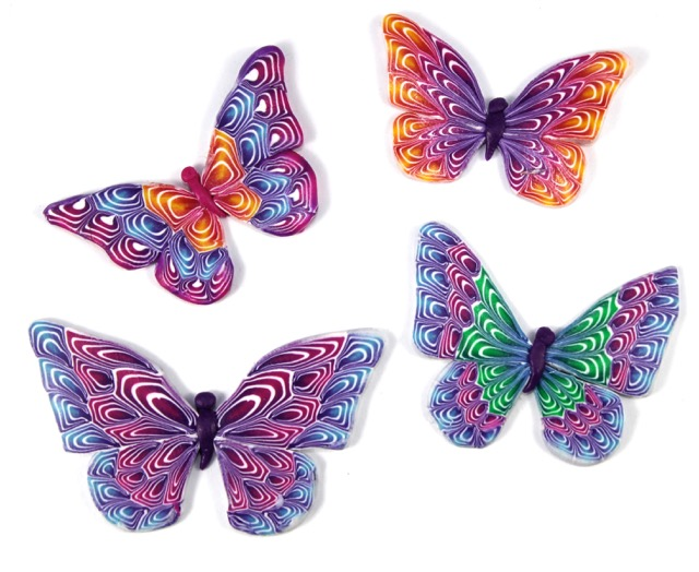 Paper art inspiration polymer clay workshop for Tutorial papillon