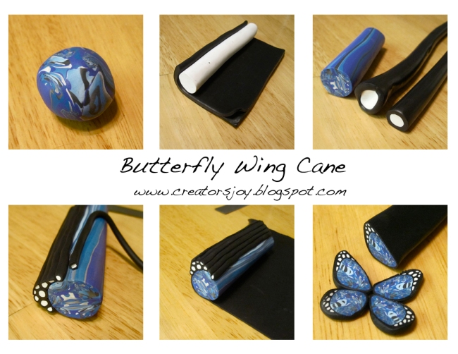 Free polymer clay millefiori cane tutorials polymer clay for Tutorial papillon