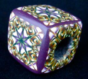 polymer clay kumihimo bead