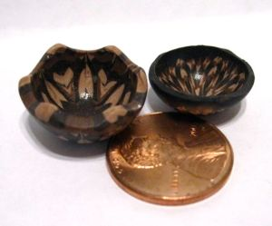 miniature wood bowls