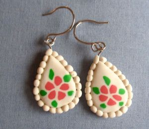 polymer clay earrings tutorial