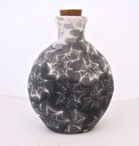 polymer clay halloween vase