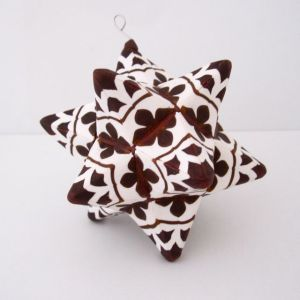 polymer clay moravian star ornament