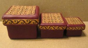 polymer clay nesting boxes 3