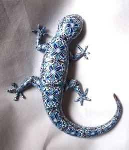 Tucson gem show polymer clay lizard