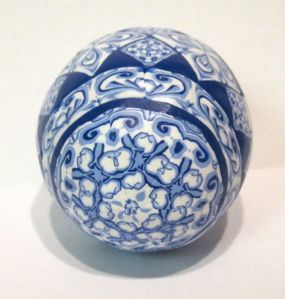 blue polymer clay egg 2