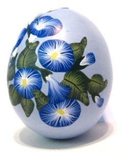 polymer clay backgroundless morning glory cane