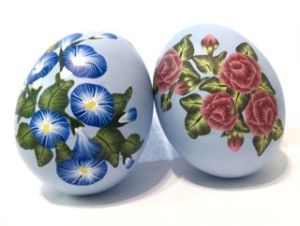 polymer clay flower cane eggs