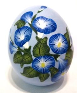 polymer clay morning glory egg