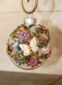 white butterfly ornament2