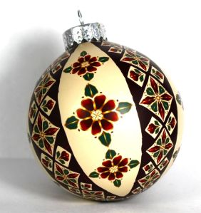 polymer clay patchwork cane ornament