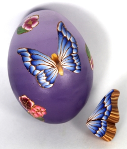 butterfly ombre egg