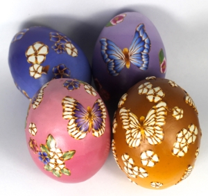decorated ombre eggs