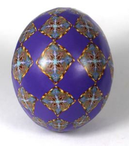 Marbled ink cane egg 2