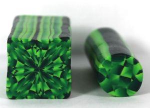 Emerald green gemstone cane