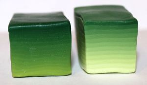 Polymer clay green Skinner blocks