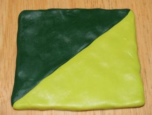 Polymer clay leaf green blend recipe