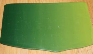 Polymer clay leaf green Skinner blend