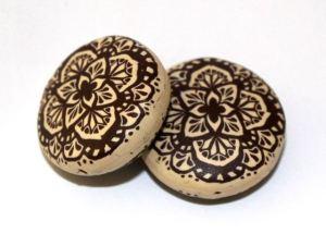 Polymer clay mandala beads