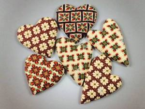 Ron Lehocky Patchwork Cane Hearts