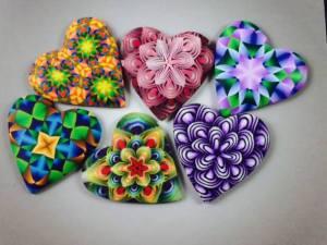Ron Lehocky Polymer Clay Cane Hearts
