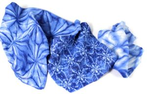 polymer clay indigo shibori texture