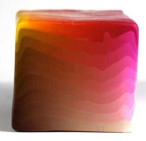 Polymer clay four corner color blend plug