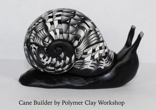 Polymer clay zentangle snail
