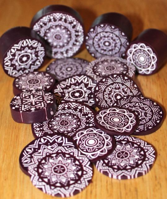 Polymer clay lace mandalas