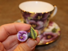 pansy tea cup and canes