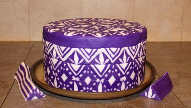 Fondant Millefiori Zendoodle Cake