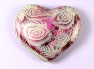 frosted rose heart