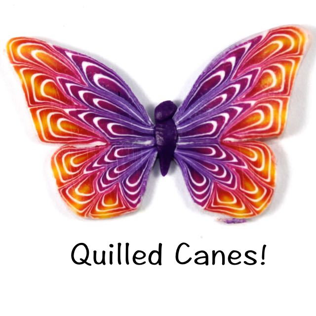 Polymer Clay Quilled Cane Butterfly