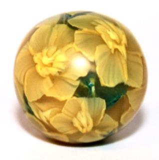 Pollymer clay daffodil cane