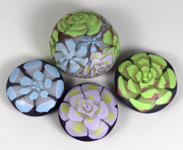 polymer clay succulent murrine
