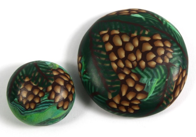 Polymer Clay Pine Cone Cane