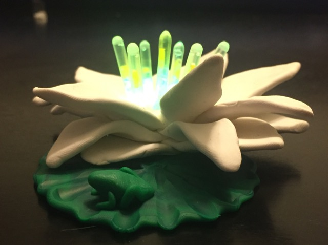 Polymer clay glow stick lily