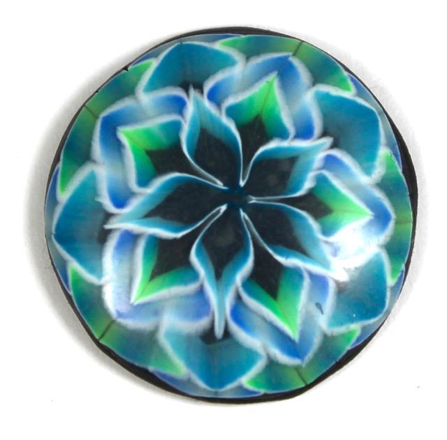 Polymer Clay Translucent Mandala Cabochon