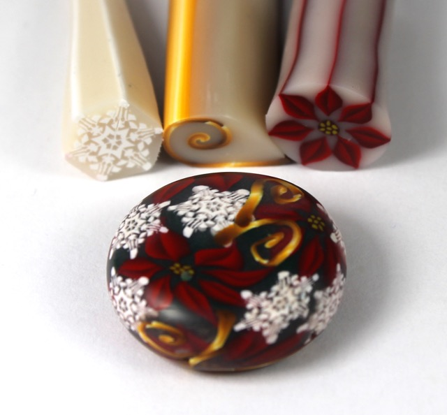 Polymer Clay Christmas pattern canes