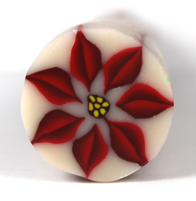 Polymer Clay Poinsettia cane tutorial1