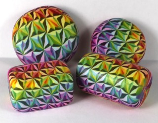 Polymer clay 3D rainbow star beads